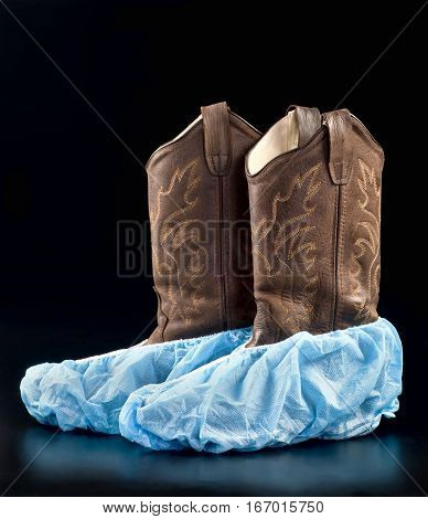 Cowboy surgical boots with room for your type.