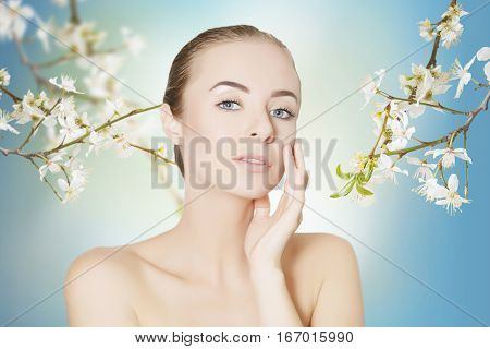 body pampering and face skin care concept portrait