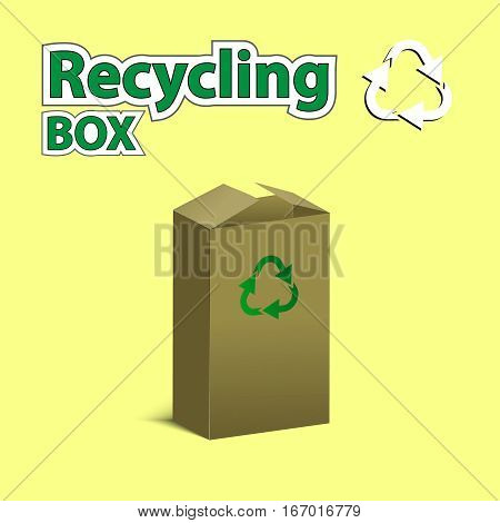 Recycling Box. Vector Illustration.