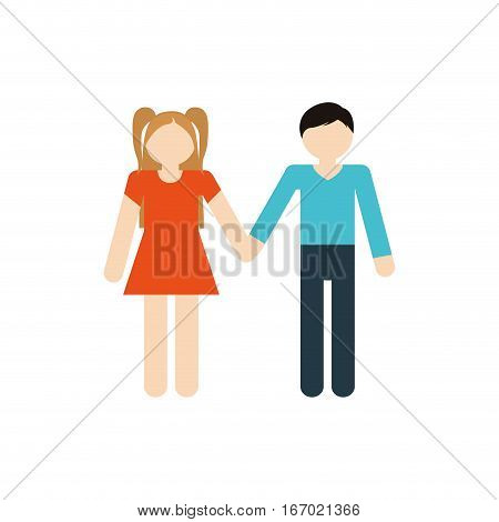 brother and sister family together vector illustration eps 10