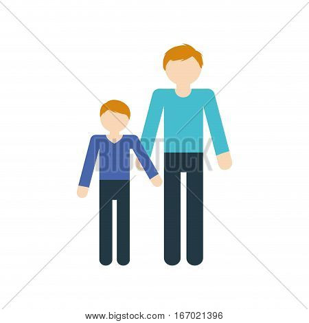family father and son relation vector illustration eps 10
