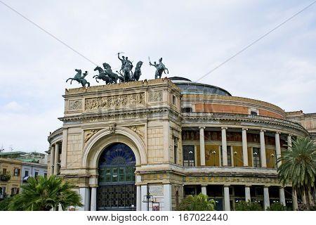 Politeama Garibaldi theater in Palermo - Sicily