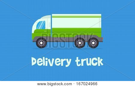 Vector of green delivery truck collection stock