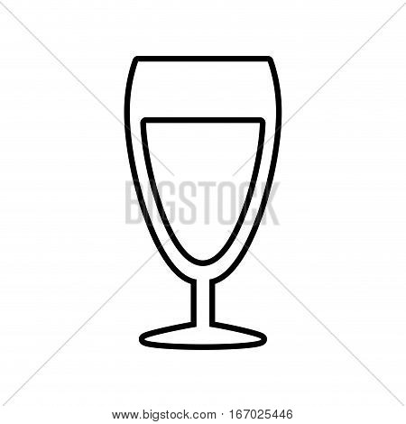 glass cup champagne drink celebration outline vector illustration eps 10