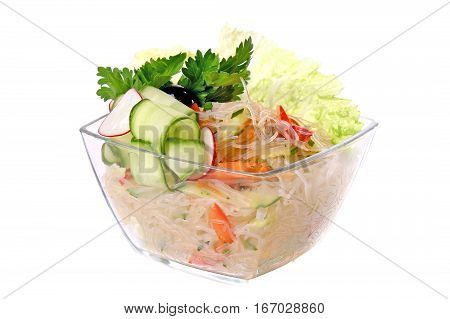 Salad Of Cellophane Noodles And Cucumber