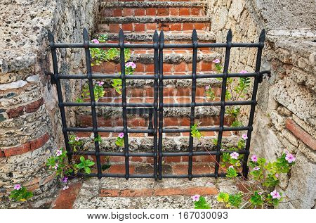 Closed Black Metal Gate