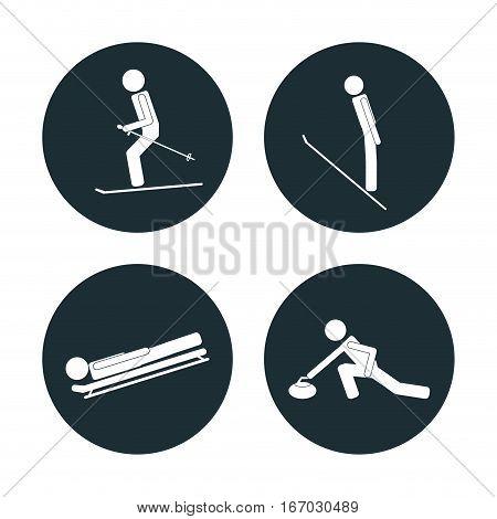 set winter sport categories vector illustration eps 10