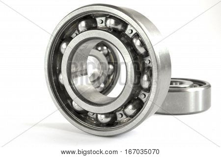 Set of three bearings on the white background.