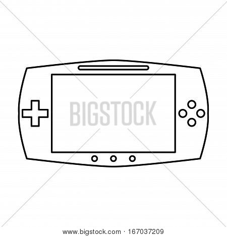 game console portable play device linear vector illustration eps 10