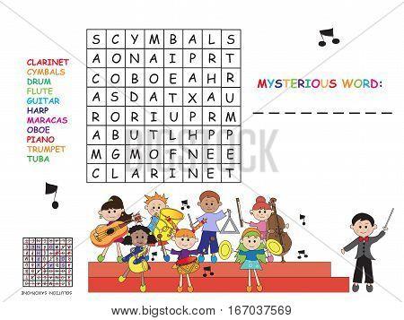 game for children: easy crossword for children