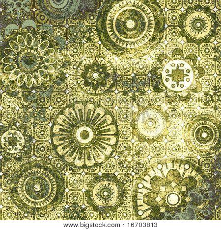 patrón floral de arte