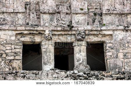 Ancient Mayan Pyramid El Castillo (the Castle) In Tulum.