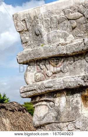 Face Of The Ancient Mayan Rain God Chaac