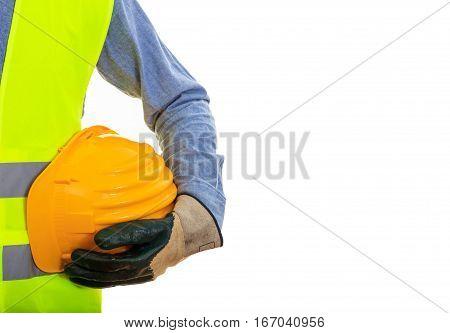 Man Wearing Safety Equipment