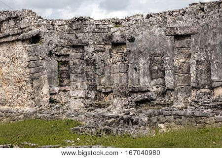 House Of The Columns In Tulum, Quintana Roo, Mexico