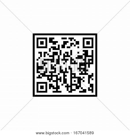 QR Code icon vector design isolated on white background