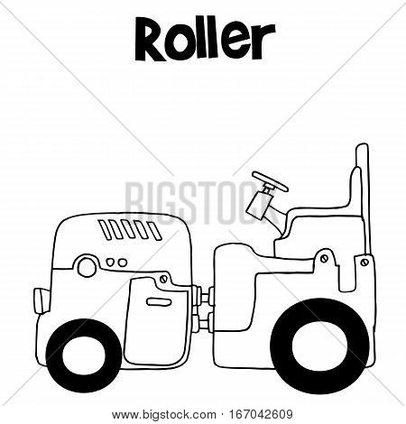 Vector art illustration of roller collection stock