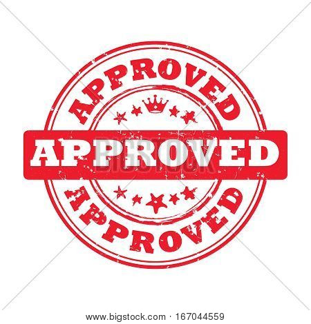 Approved - red printable sign / sticker / label. Print colors used