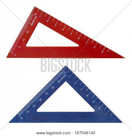 Set square triangle rulers