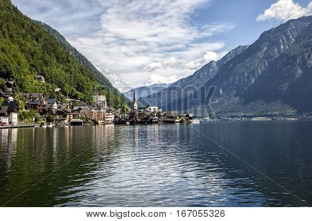 View of the Hallstatt village Hallstatt Austria