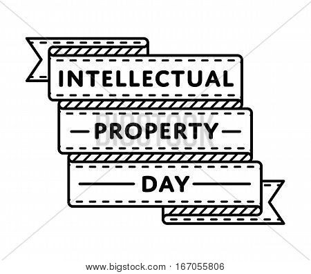 World Intellectual Property day emblem isolated vector illustration on white background. 26 april world holiday event label, greeting card decoration graphic element