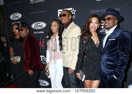 LOS ANGELES - JAN 23:  Michael Bivins, Ronnie DeVoe, Ricky Bell, guests at the BET's