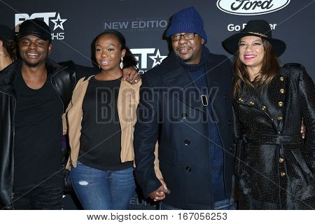 LOS ANGELES - JAN 23:  Guests, Bobby Brown, Alicia Etheredge at the BET's