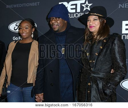 LOS ANGELES - JAN 23:  Guest, Bobby Brown, Alicia Etheredge at the BET's