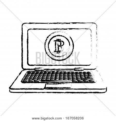 bitcoin icon, money symbol online, computer image