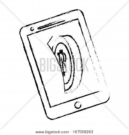 bitcoin image, digital money symbol in the smatphone
