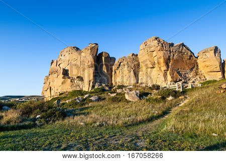 Writing-on-stone Provincial Park In Alberta, Canada