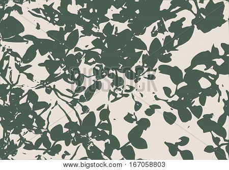 Berry bushes in forest. Summer season. Green plants. Vector illustration
