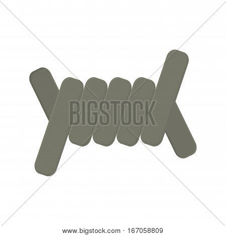 Military gray barbed wire image vector illustration