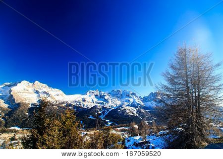 Dolomiti Di Brenta In A Winter Day