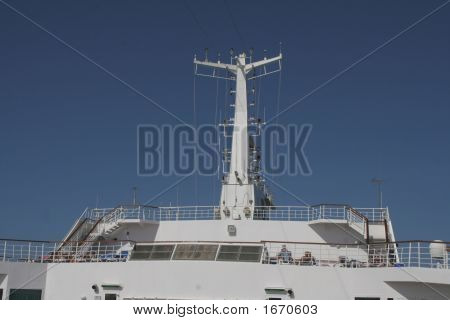 Communications And Radar Of A Cruise Ship