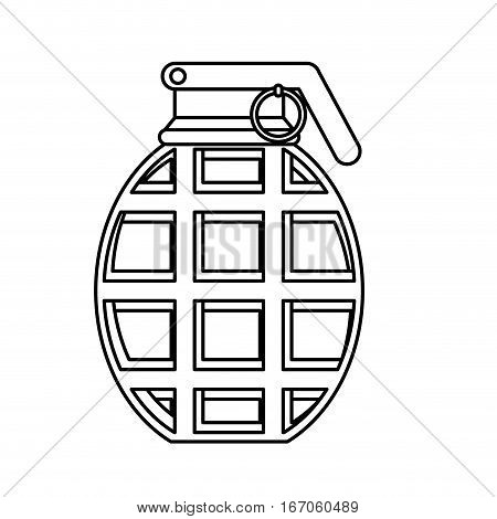 Figure grenade military equipment icon image vector illustration