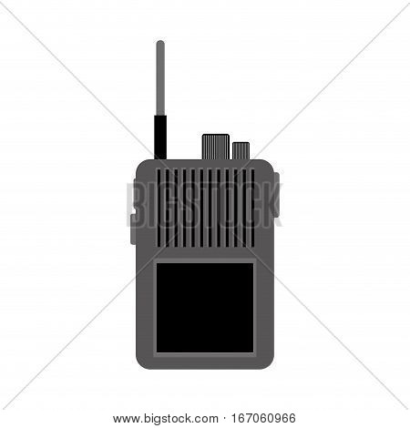 Walkie talkie contour military communication equipment, icon image