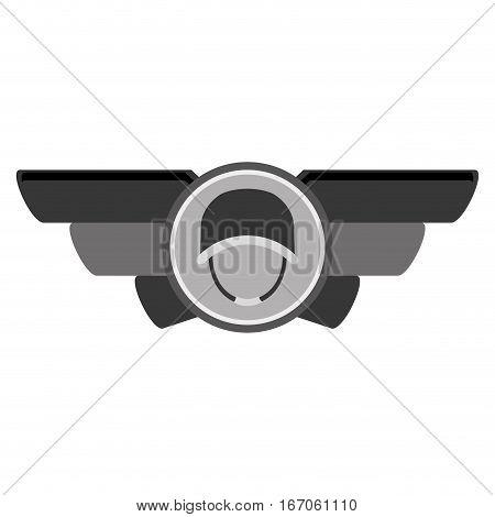 Emblem contour with the militar symbol that display military rank image