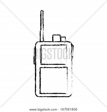 Walkie talkie silhouette military communication equipment, icon image