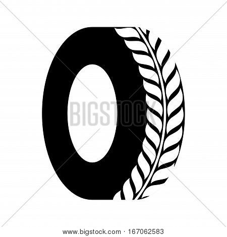 Shade tire of car icon image, vector illustration image