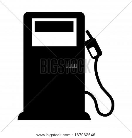 Black fuel of pump with nozzle oil, vector illustration image