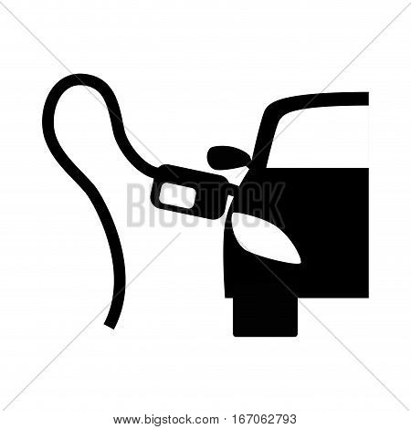 Black refuelling gas in a car design, vector illustration image