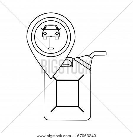 Figure oil nozzle with a symbol of car, vector illustration icon