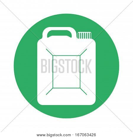 Signal canister of gasoline icon image, vector illustration