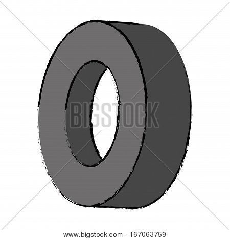 Gray tire of car icon image, vector illustration image