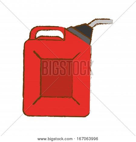 Red pump gasoline nozzle image, vector illustration
