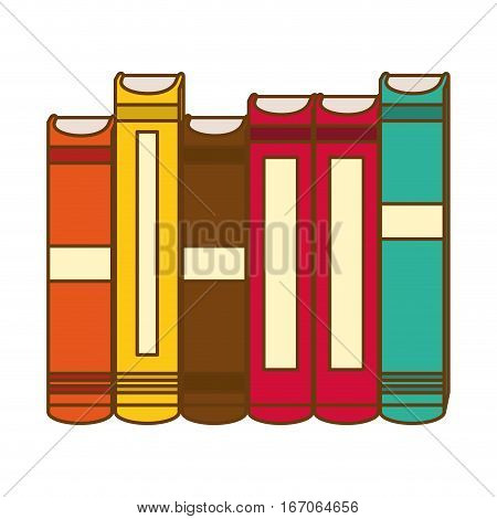 Color interenting knowledge books icon image, vector illustration
