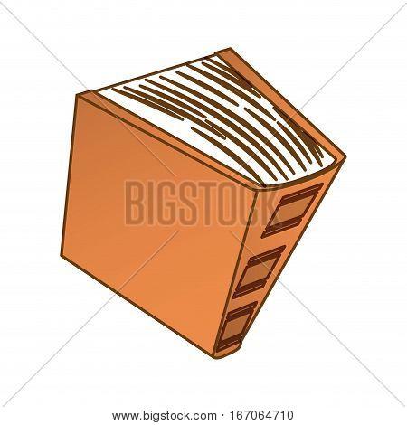 Brown encyclopedia icon image, vector illustration design