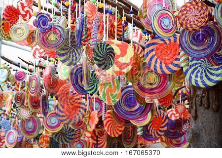 Big Sweet Candy lollipop Chines New Year