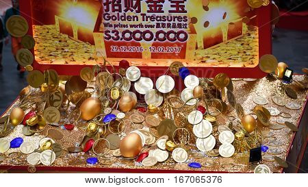 Chines New Year chest of Gold coins
